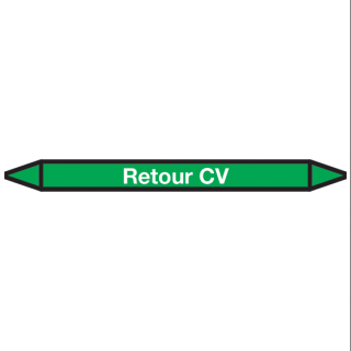 Retour-CV Pictogramsticker Leidingmarkering