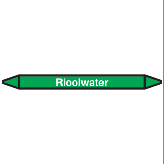 Rioolwater Pictogramsticker Leidingmarkering