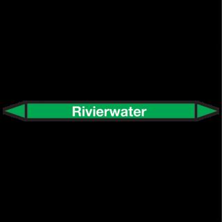 Rivierwater Pictogramsticker Leidingmarkering