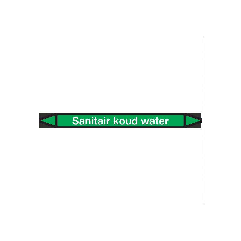 Sanitair-koud-water Pictogramsticker Leidingmarkering