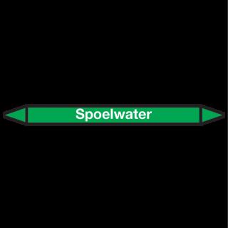 Spoelwater Pictogramsticker Leidingmarkering