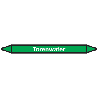 Torenwater Pictogramsticker Leidingmarkering