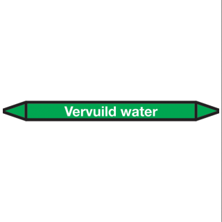 Vervuild-water Pictogramsticker Leidingmarkering