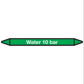 Water-10-bar Pictogramsticker Leidingmarkering