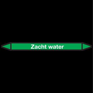 Zacht-water Pictogramsticker Leidingmarkering