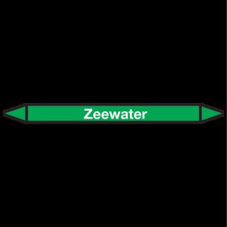 Zeewater Pictogramsticker Leidingmarkering