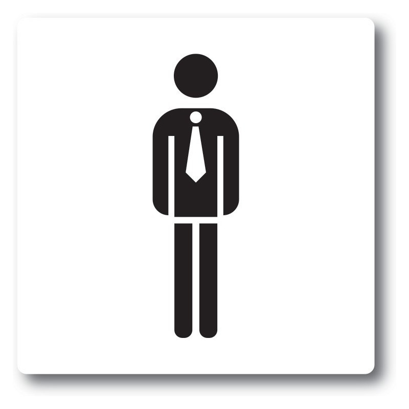 Gentleman 1 toilet sticker