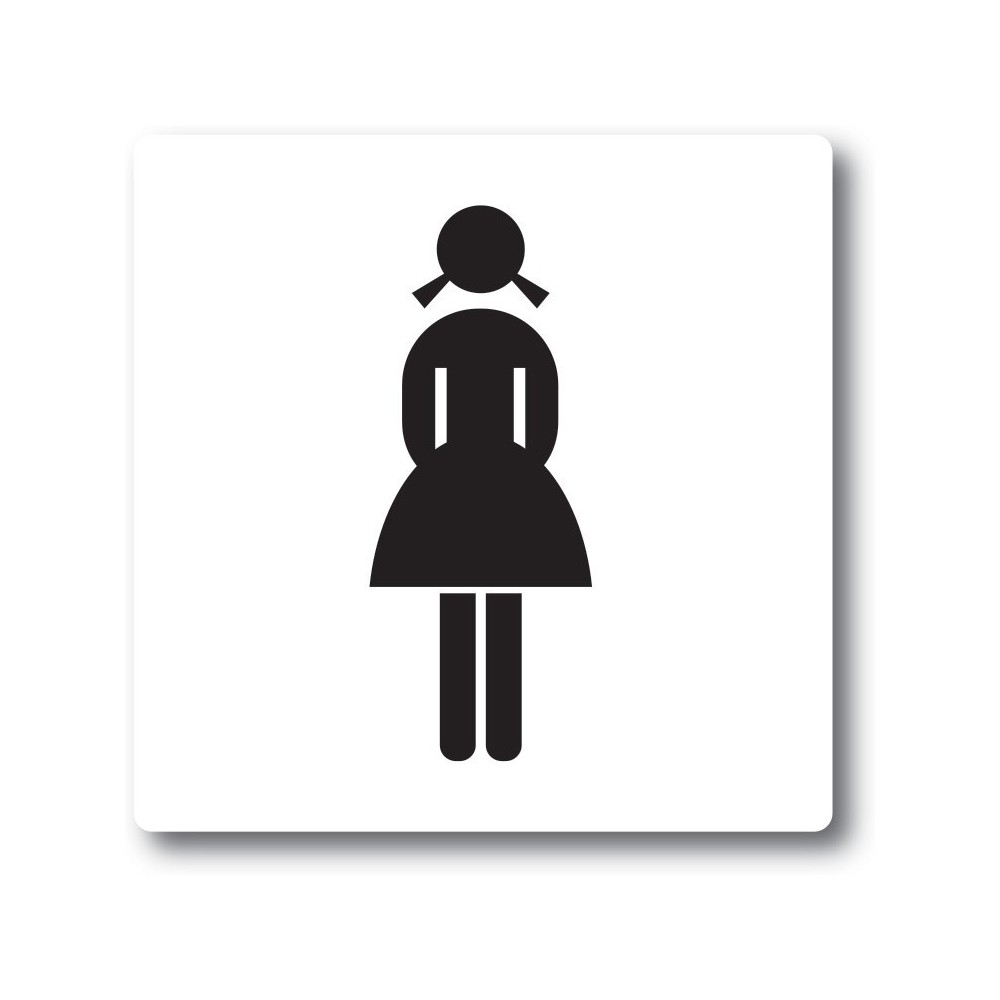 Lady toilet sticker