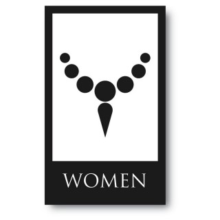 Toilet sticker woman ketting
