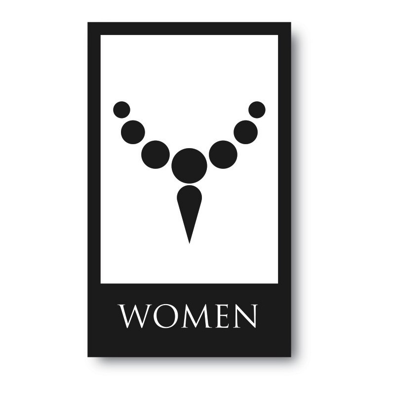 Toilet sticker woman ketting