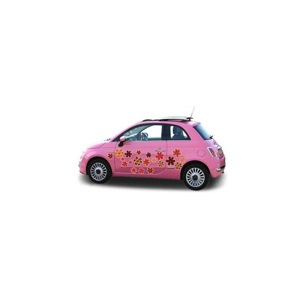Herfst auto bloemensticker