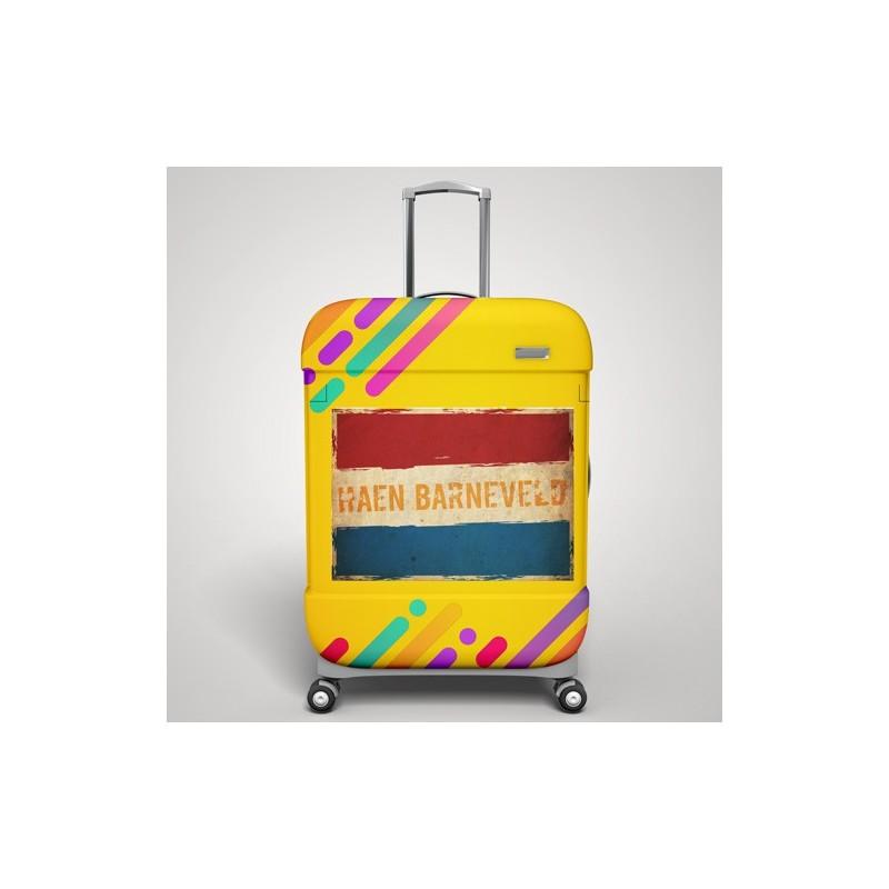 Eigen naam Grunge vlag koffer stickers