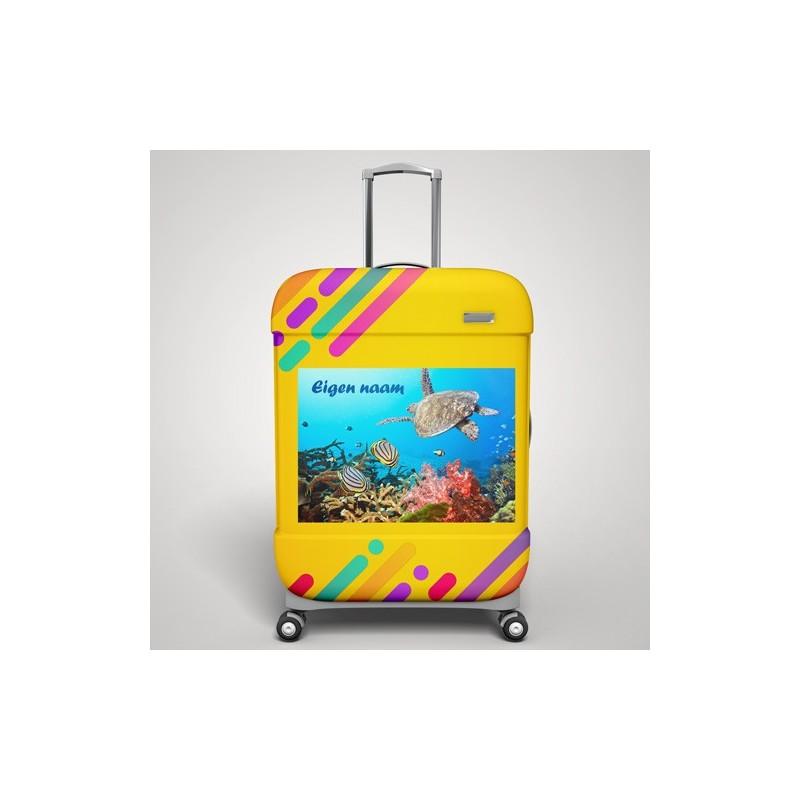 Eigen naam onderwater koffer stickers 1