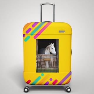 Eigen naam paard koffer stickers