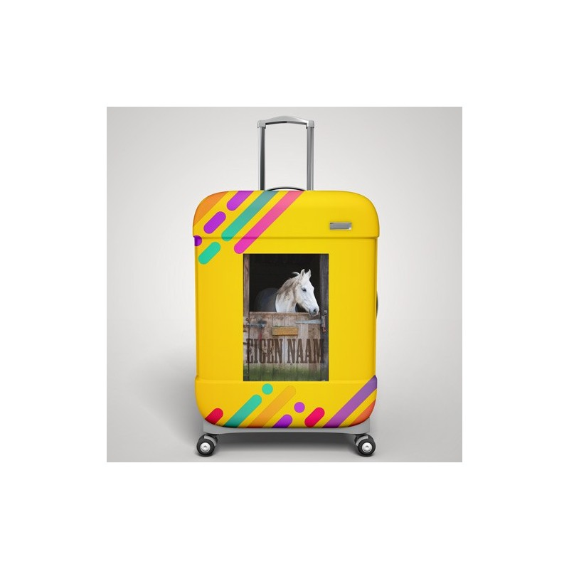 Eigen naam paard koffer stickers 1