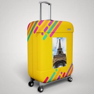 Eigen naam Parijs koffer stickers