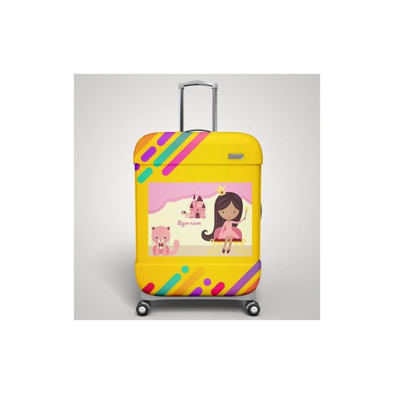 Eigen naam Prinsessen koffer stickers 1