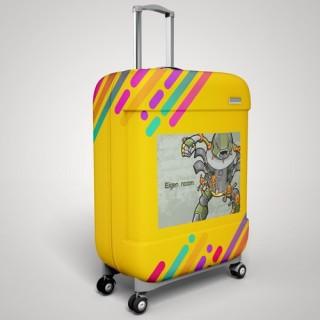 Eigen naam robot koffer stickers
