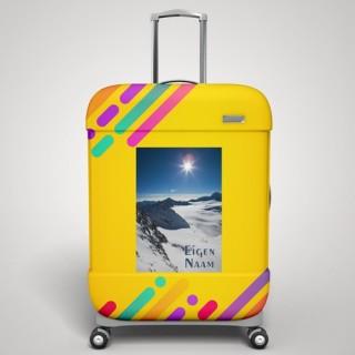 Eigen naam sneeuwberg koffer stickers