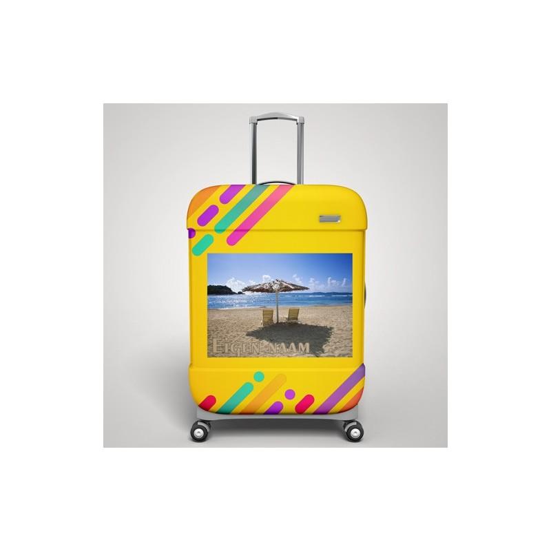 Eigen naam strand koffer stickers