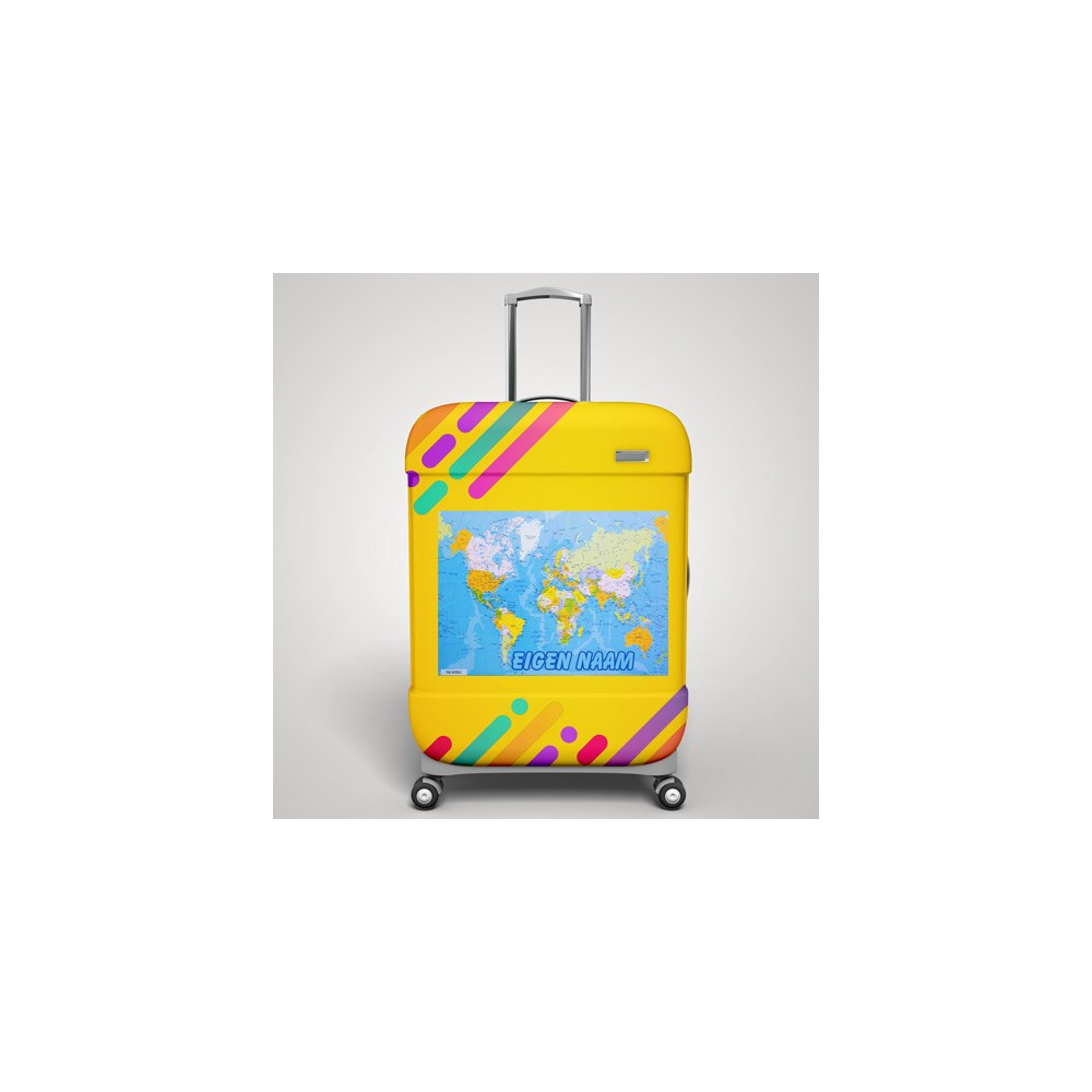 Wereldkaart koffer stickers