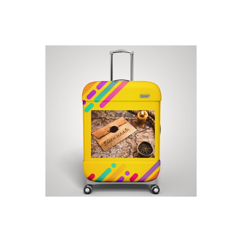 Eigen naam wereldreiziger koffer stickers