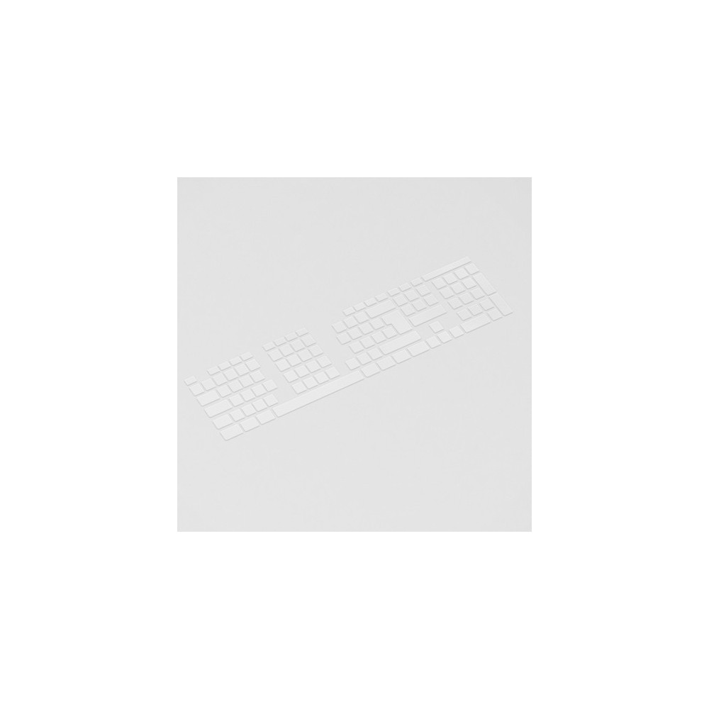 Lege transparante toetsenbord stickers