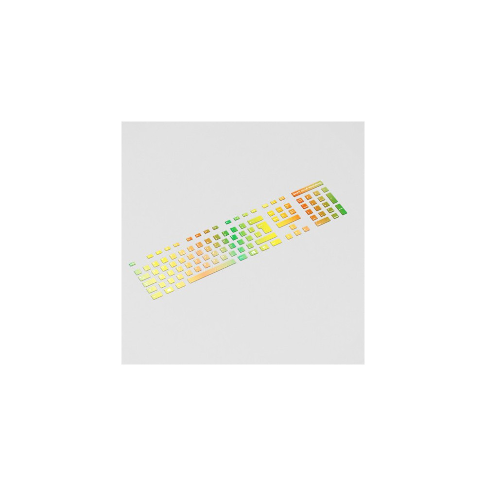 Regenboog Toetsenbordstickers