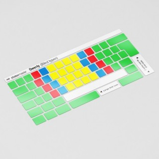 Blind typen 2 toetsenbordstickers