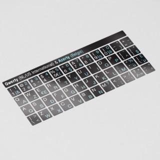 zwarte QWERTY AZERTY toetsenbordstickers
