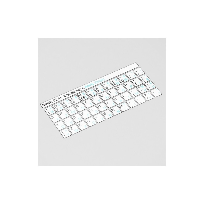 QWERTY & AZERTY Toetsenbord letters - Wit