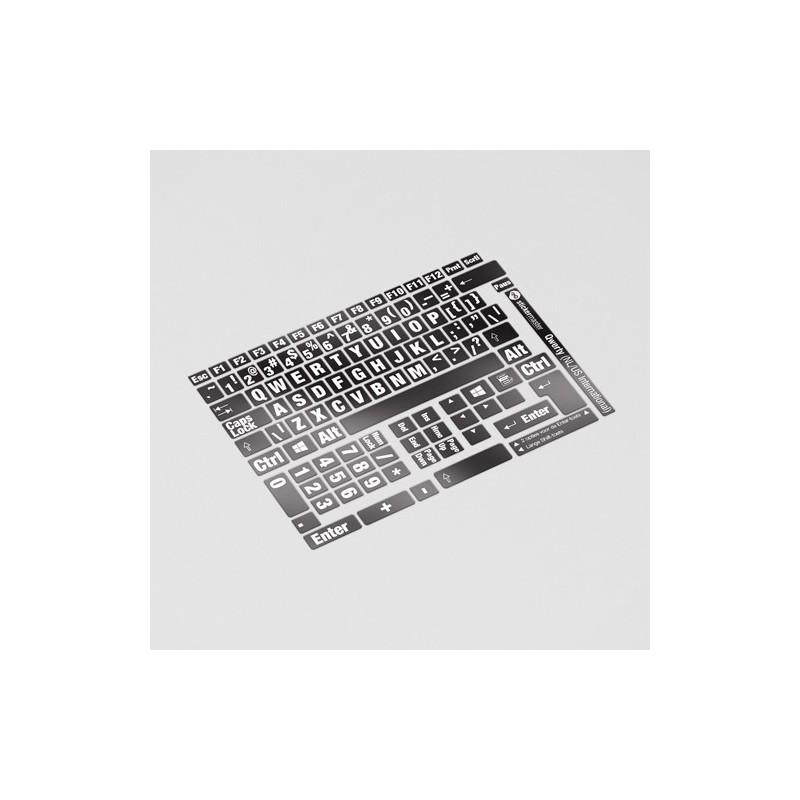 zwarte toetsenbordstickers