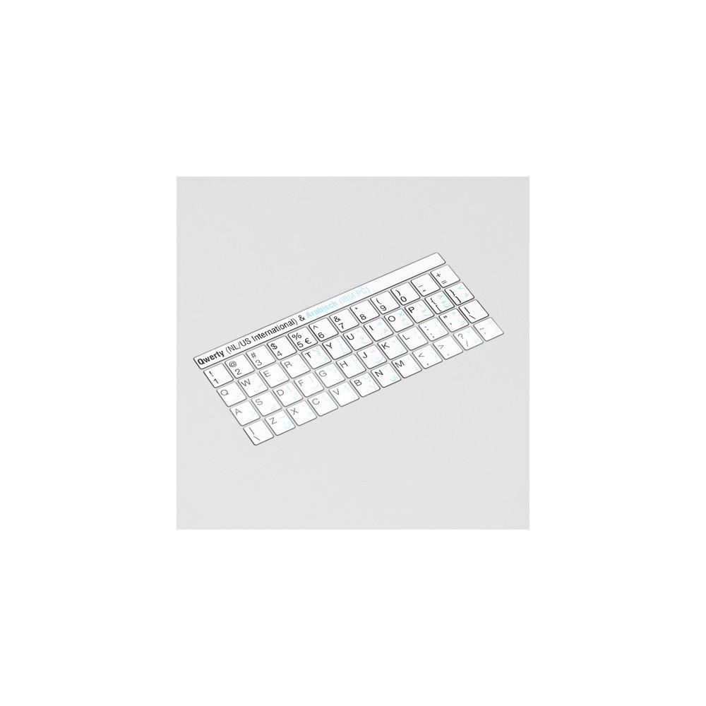 Toetsenbord letters - Arabisch Wit