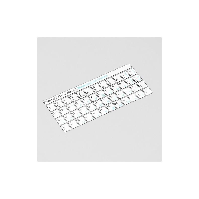 Toetsenbord letters - DVORAK Wit