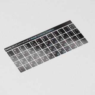 Toetsenbord letters - DVORAK Zwart