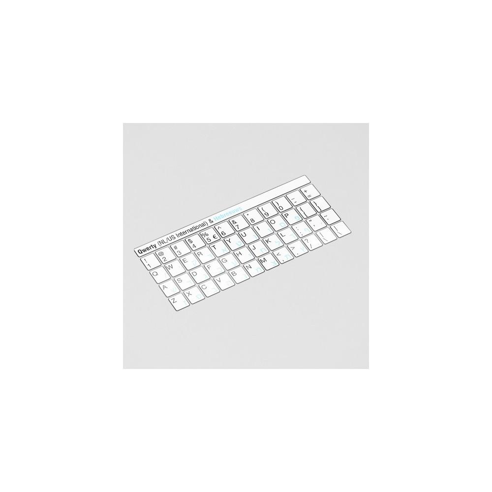 Toetsenbord letters - Hebreeuws Wit