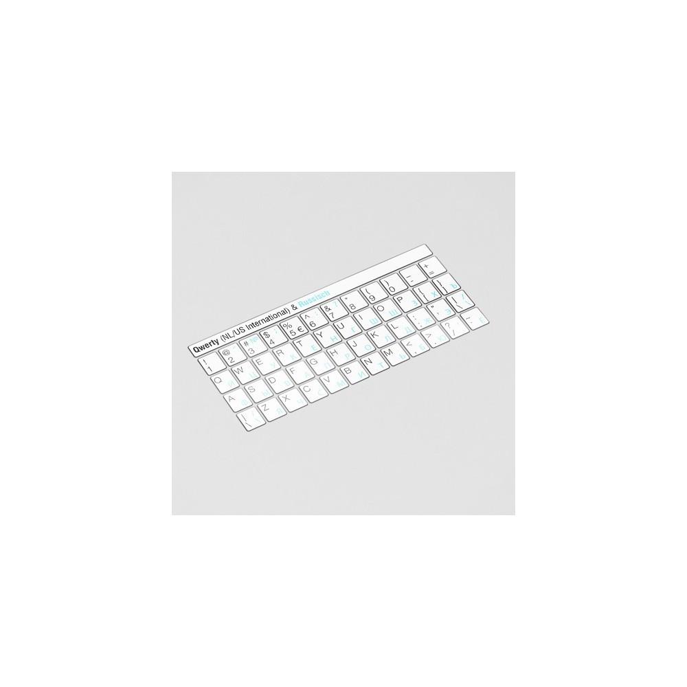 Russisch Witte Toetsenbord stickers