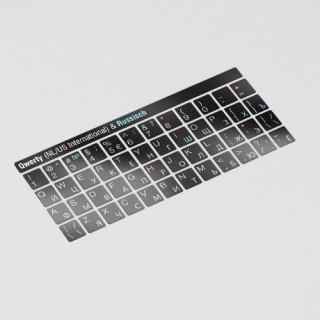 Toetsenbord letters - Russisch Zwart