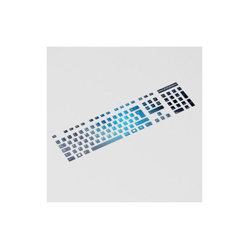 blauw zwarte toetsenbordstickers