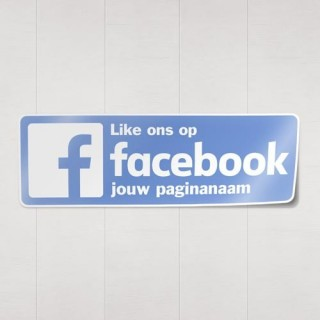 Facebook 2015 sticker eigen bedrijfsnaam