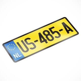 License Plate USA Kenteken Sticker