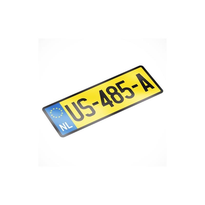 18.2 Kenteken Sticker
