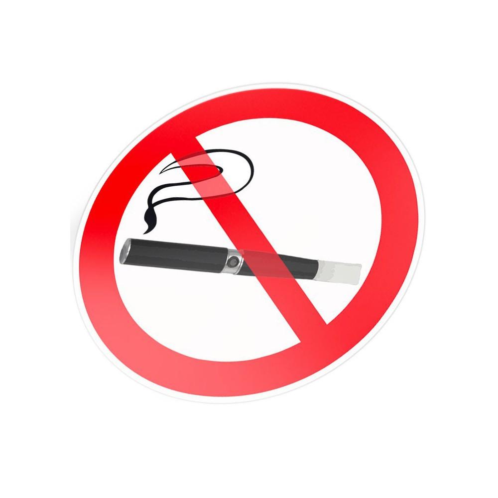 Verboden voor elektronisch roken stickers pictogrammen