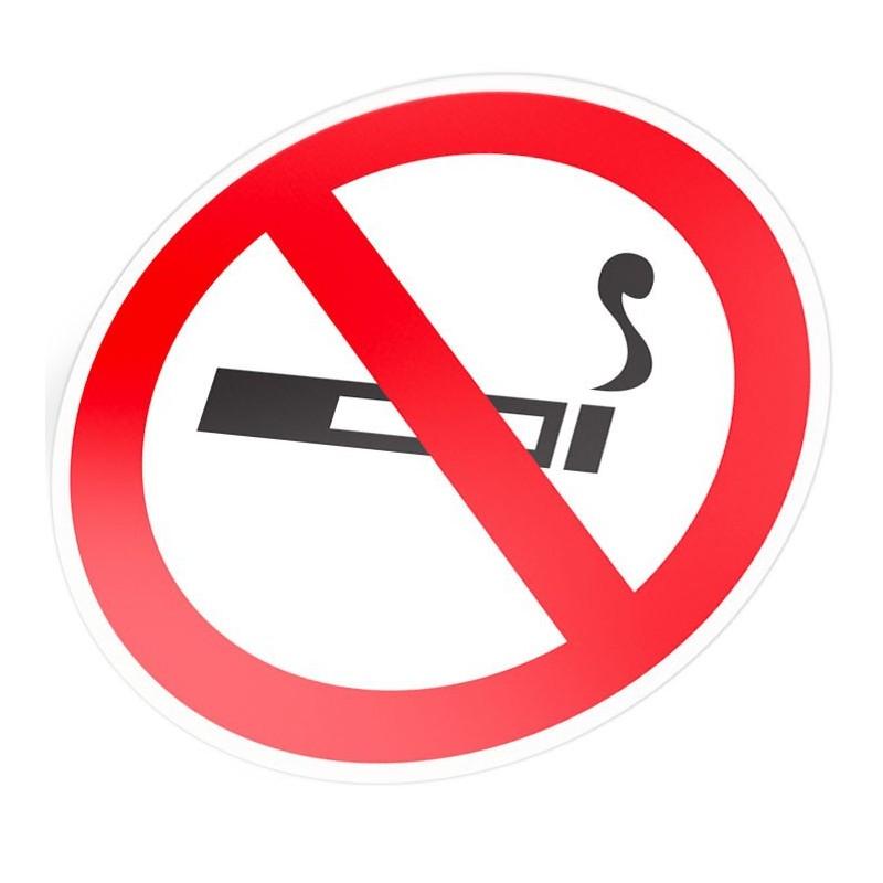 Verboden te roken stickers pictogram