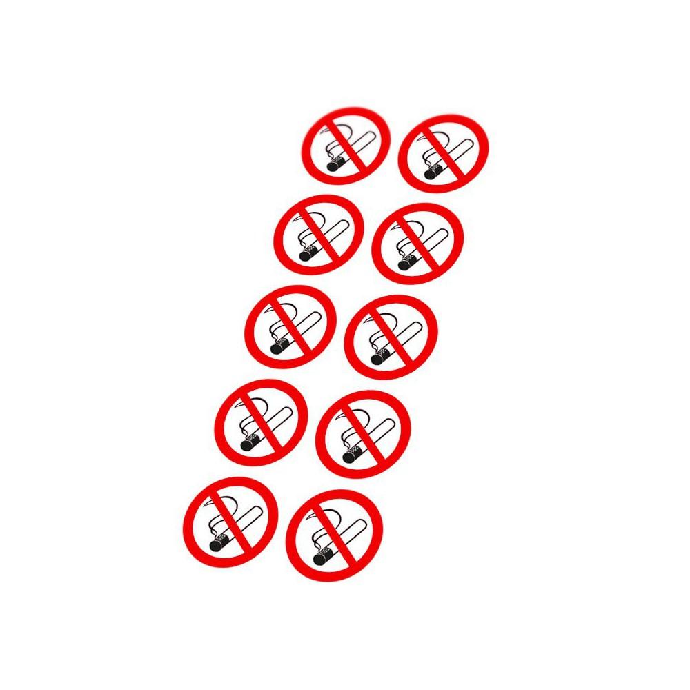 Verboden te roken type 2 Small 10 stickers pictogrammen