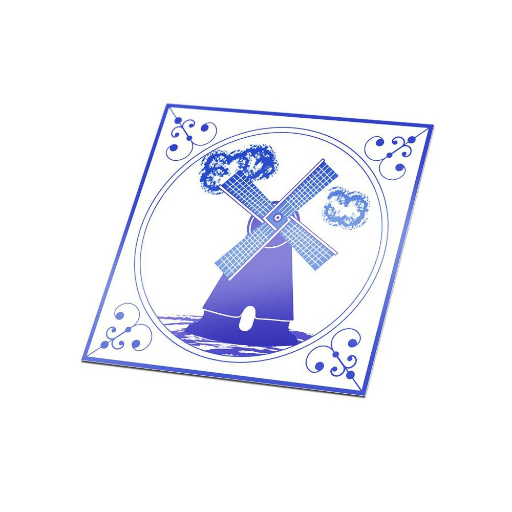 Tegelsticker Delfts Blauw molen
