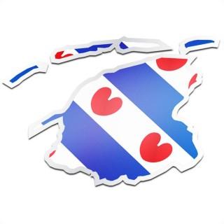Provincie sticker Friesland