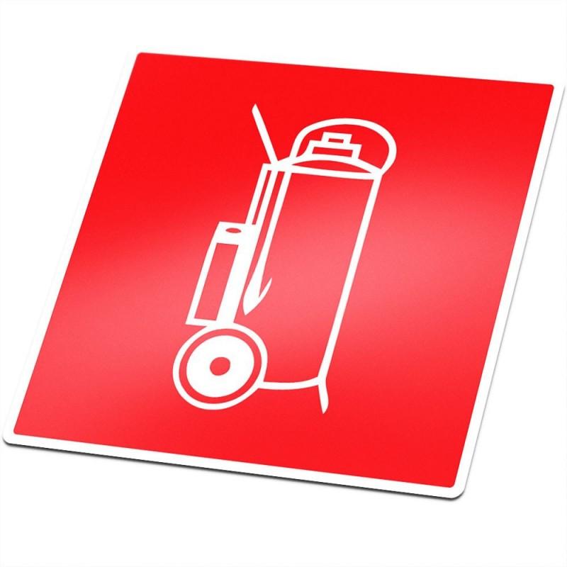 Bluswagen brandveiligheid sticker