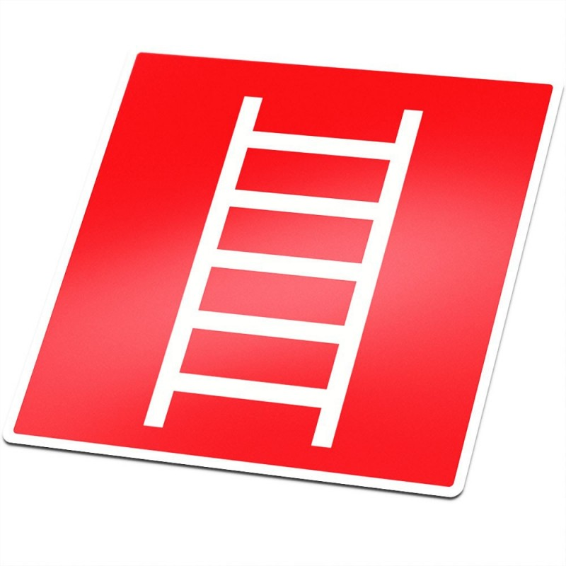 Ladder brandbeveiliging sticker