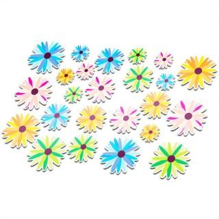 Fietsstickers bloemen set 1